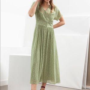 & Other Stories Pistachio floral dress size US 8